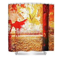 Shower Curtain featuring the photograph Gutter And Decayed Wall by Silvia Ganora