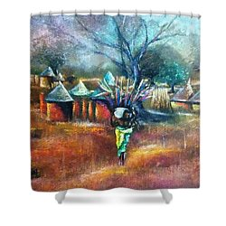 Gwari Village In Abuja Nigeria Shower Curtain