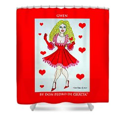 Shower Curtain featuring the painting Gwen by Don Pedro De Gracia