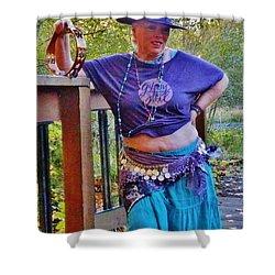 Gypsy Belly-dancer Shower Curtain by VLee Watson