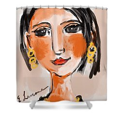 Gypsy Lady Shower Curtain by Elaine Lanoue