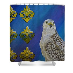 Gyr Falcon Shower Curtain by Isabel Proffit