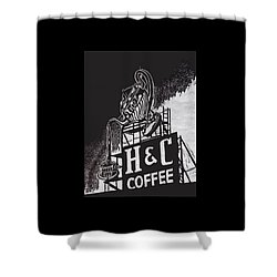 H And C Coffee Sign Shower Curtain