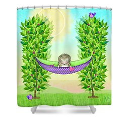 H Is For Hedgehog And Hammock Shower Curtain