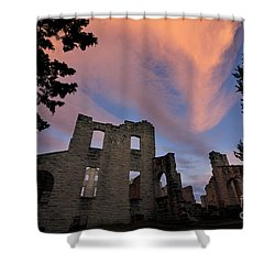 Ha Ha Tonka On Fire Shower Curtain