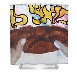 Ha Motzi Lechem - Blessing Over The Bread Shower Curtain