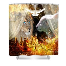 Ha-shilush Ha-kadosh  Shower Curtain