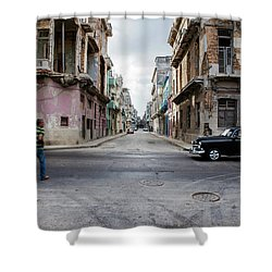 Habana Vieja Horizon Shower Curtain