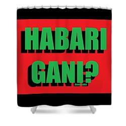 Habari Gani Shower Curtain