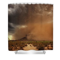 Shower Curtain featuring the photograph Haboob Is Coming by Rick Furmanek