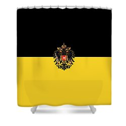 Habsburg Flag With Imperial Coat Of Arms 3 Shower Curtain