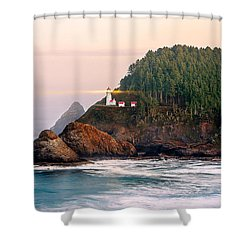 Haceta Head Light Shower Curtain by Todd Klassy