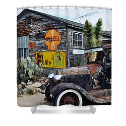 Hackberry Route 66 Auto Shower Curtain
