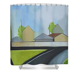 Hackensack Exit Shower Curtain by Ron Erickson
