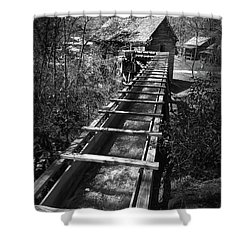 Hagood Gristmill Waterwheel At Hagood Mill Shower Curtain by Kelly Hazel