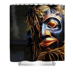 Shower Curtain featuring the photograph Haida Head by Cameron Wood