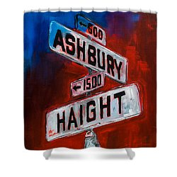 Shower Curtain featuring the painting Haight And Ashbury by Elise Palmigiani
