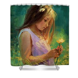 Shower Curtain featuring the painting Hailey by Steve Henderson