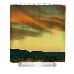 Shower Curtain featuring the photograph Hailing The Sky by John De Bord