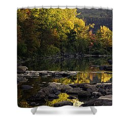 Hailstone Sunrise Fall Color 2012 Shower Curtain by Michael Dougherty