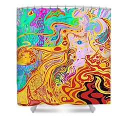 Hair Of The Divine Universe Shower Curtain
