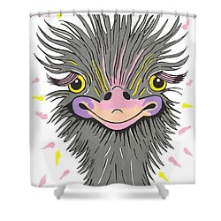 Hair Raising Day - Contemporary Ostrich Art Shower Curtain
