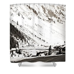 Hairpin Turn Shower Curtain by Marilyn Hunt