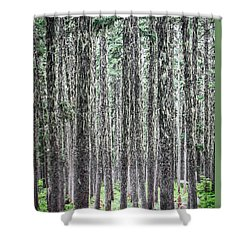 Hairy Forest Shower Curtain