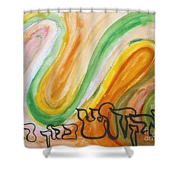 Hakadosh Barochu   The Holy One, Blessed Be He Shower Curtain