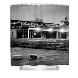 Hale Barns Square - Demolition In Progress Shower Curtain