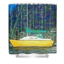 Hale Pau Hana Shower Curtain by Rae  Smith PSA
