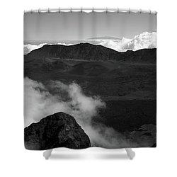 Haleakala B/w Shower Curtain