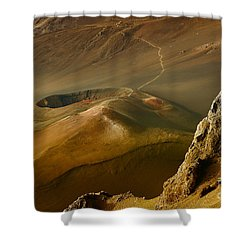 Haleakala Caldera Shower Curtain by Teresa Zieba