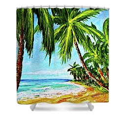 Haleiwa Beach #369 Shower Curtain by Donald k Hall