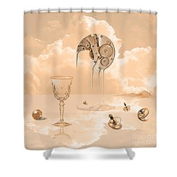 Shower Curtain featuring the digital art Beyond Time by Alexa Szlavics