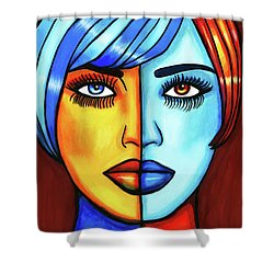 Half Breed Woman Shower Curtain
