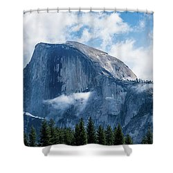 Half Dome In The Clouds Shower Curtain