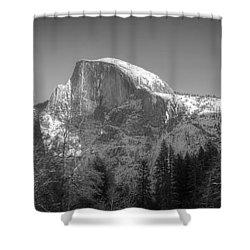 Half Dome In Winter Shower Curtain