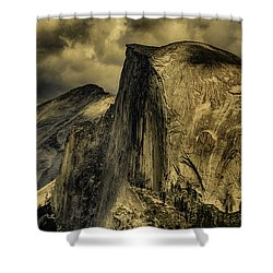 Half Dome Of The Yosemites Shower Curtain by Janis Knight