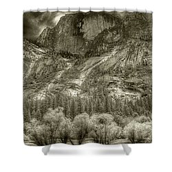 Half Dome Over Mirror Lake Shower Curtain