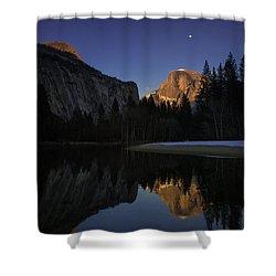 Half Dome, Twilight Shower Curtain
