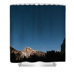 Half Dome Under The Stars Shower Curtain