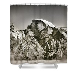Shower Curtain featuring the photograph Half Dome Yosemite by James Bethanis
