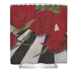 Shower Curtain featuring the painting Half Dozen Red by Arlene Crafton