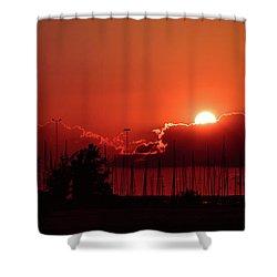 Half Hidden Shower Curtain