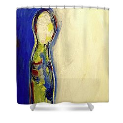 Half Man Half Blue Shower Curtain