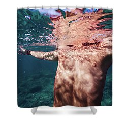 Half Man II Shower Curtain