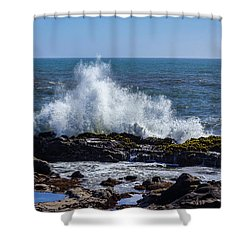 Wave Crashing On California Coast 1 Shower Curtain