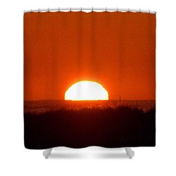 Half Sun Shower Curtain by  Newwwman
