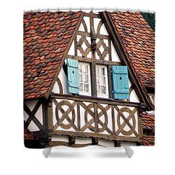 Half-timbered House Shower Curtain